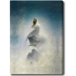 Karl Wilhelm Diefenbach 'Question to the Stars' Hand-painted Oil on Canvas