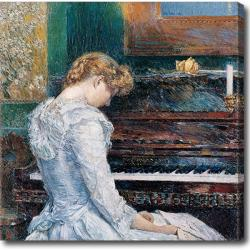Childe Hassam 'The Sonota' Hand-painted Oil on Canvas
