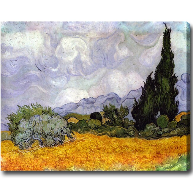 Vincent Van Gogh 'Wheat Field with Cypresses' Hand-painted Oil on Canvas