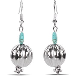 Miadora Created Turquoise Bead Earrings