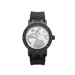 Joe Rodeo Women's Super Techno Black-Strap Diamond Watch