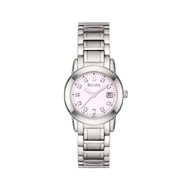 Bulova Women's Stainless Steel 8-Diamond Watch