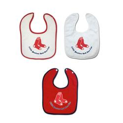 Boston Red Sox Baby Bibs (Set of 3)