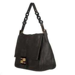Fendi 'Mama' Black Leather Shoulder Bag