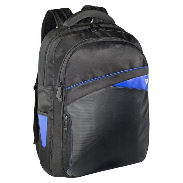 "V7 Edge CBD2 Carrying Case (Backpack) for 17.3"" Notebook - Black, Blu"