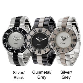 Geneva Platinum Women's Roman Numeral Link Watch