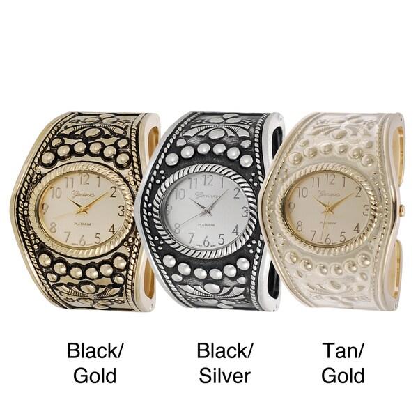 Geneva Platinum Women's Vintage Cuff Watch