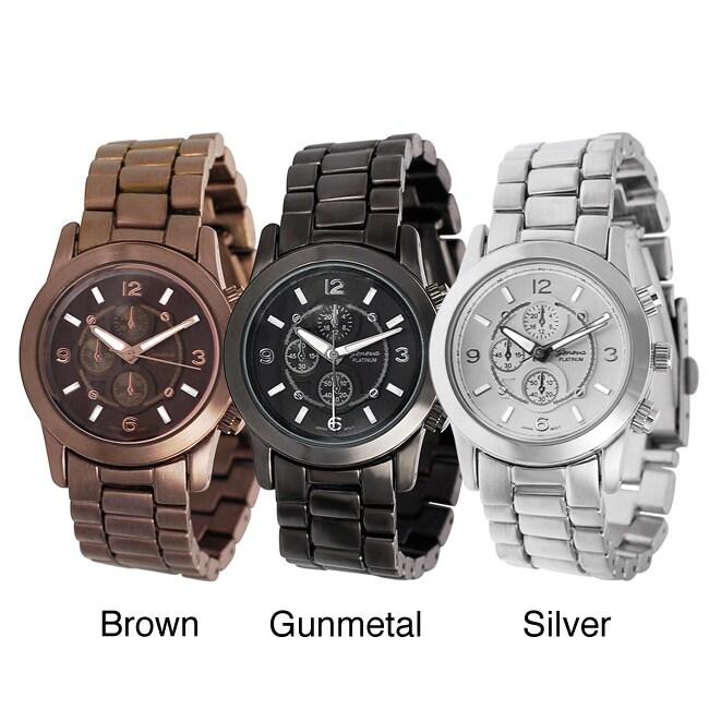 Geneva Platinum Women's Chronograph-style Link Watch