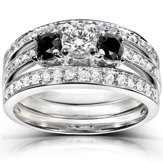 Annello 14k White Gold 1ct TDW Diamond 3-piece Bridal Ring Set (H-I, I1-I2)