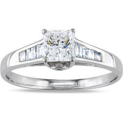 Miadora 14k White Gold 1ct TDW Diamond Engagement Ring (G-H, I1) (IGL)