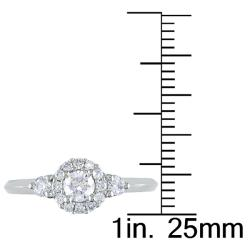 Miadora 14k White Gold 1/2ct TDW Diamond Engagement Ring (G-H, I1-I2)