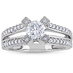 Miadora 14k White Gold 1-1/4ct TDW Diamond Engagement Ring (H-I, I1-I2)