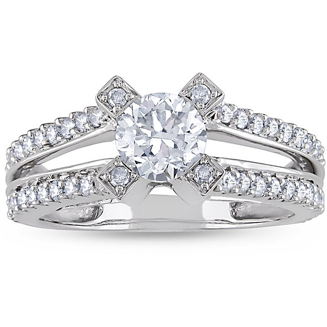 Miadora 14k White Gold 1-1/4ct TDW Diamond Ring (H-I, I1-I2)