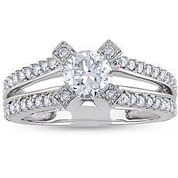 Miadora 14k White Gold 1-1/4ct TDW Diamond Ring (H-I, I1-I2)