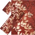 Meticulously Woven Red Floral Tabluar 3-piece Area Rug Set