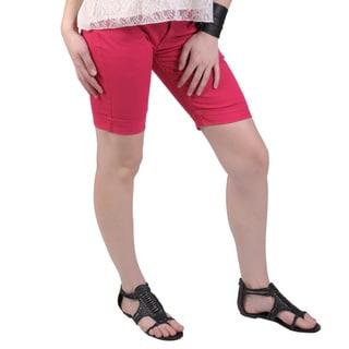 Hailey Jeans Co. Juniors Cuffed Stretch Bermuda Shorts