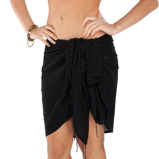 Black Embroidered Half Sarong (Indonesia)