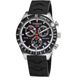 Tissot Men's 'PRS 516' Black Dial Black Strap Chronograph Quartz Watch