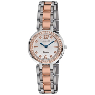 Akribos XXIV Women's Two-Tone Stainless-Steel Diamond Bracelet Watch