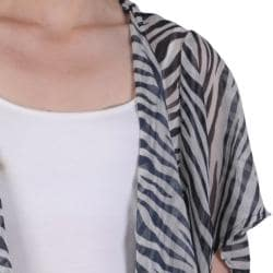 Journee Collection Women's Contemporary Plus Print Chiffon Cardigan