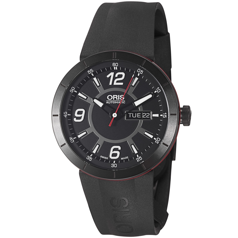 Oris Men's 'TT1 Diver' Black Dial Black Rubber Strap Automatic Watch