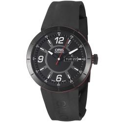 Oris Men's 'TT1 Diver' Black Dial Black Rubber Strap Automatic Watch