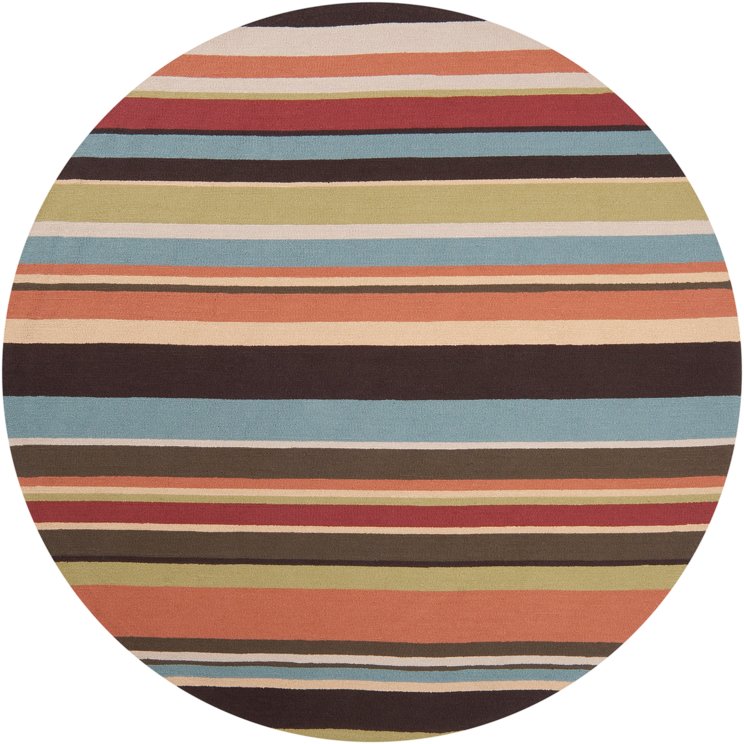 Hand hooked Multicolored Rancie Indoor Outdoor Stripe Rug