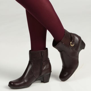 Naturalizer Women's 'Orah' Brown Ankle Boots FINAL SALE