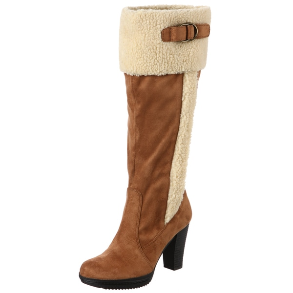 Naturalizer Women's 'Trinity' Tan Wide Calf Boots