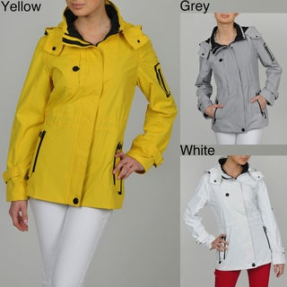 HAWKE & Co Women's Active Anorak Jacket with Zip Detachable Hood