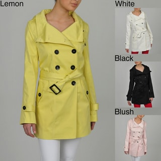 HAWKE and Co Women's Poly/Cotton Double Breasted Trench Coat
