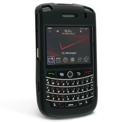BasAcc Black Snap-on Rubber Coated Case for Blackberry Tour 9630