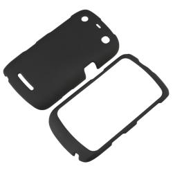 BasAcc Black Rubber Coated Case for Blackberry Curve 9350/ 9360/ 9370