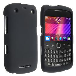 BasAcc Black Rubber Coated Case for Blackberry Curve 9350/ 9360/ 9370