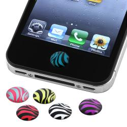 BasAcc Zebra Home Button Sticker for Apple iPhone/ iPad (Pack of 6)