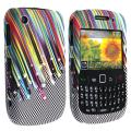 BasAcc Rainbow Star Rubber Coated Case for Blackberry Curve 8520/ 9300