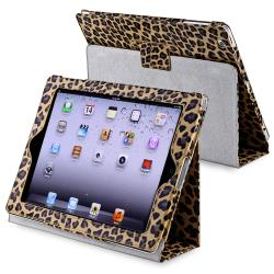 Yellow Leopard Leather Case with Stand for Apple iPad 3/ 4