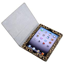Yellow Leopard Leather Case with Stand for Apple iPad 3