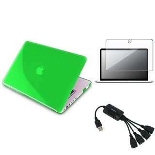 INSTEN Green Laptop Case Cover/ Screen Protector/ USB Hub for Apple MacBook Pro 13-inch