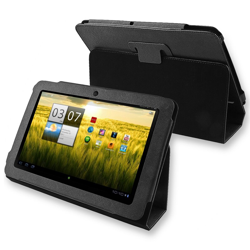 Black Synthetic-leather Protective Case for Acer Iconia Tab A200