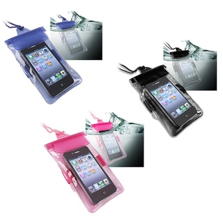 BasAcc Hot Pink Black Blue Universal with Armband Waterproof Bag for Cell Phone/ PDA