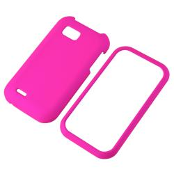 INSTEN Hot Pink Snap-on Rubber Coated Phone Case Cover for LG MyTouch Q