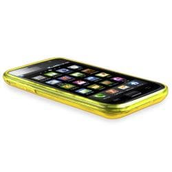 Clear Yellow Diamond TPU Rubber Skin Case for Samsung Galaxy S i9000
