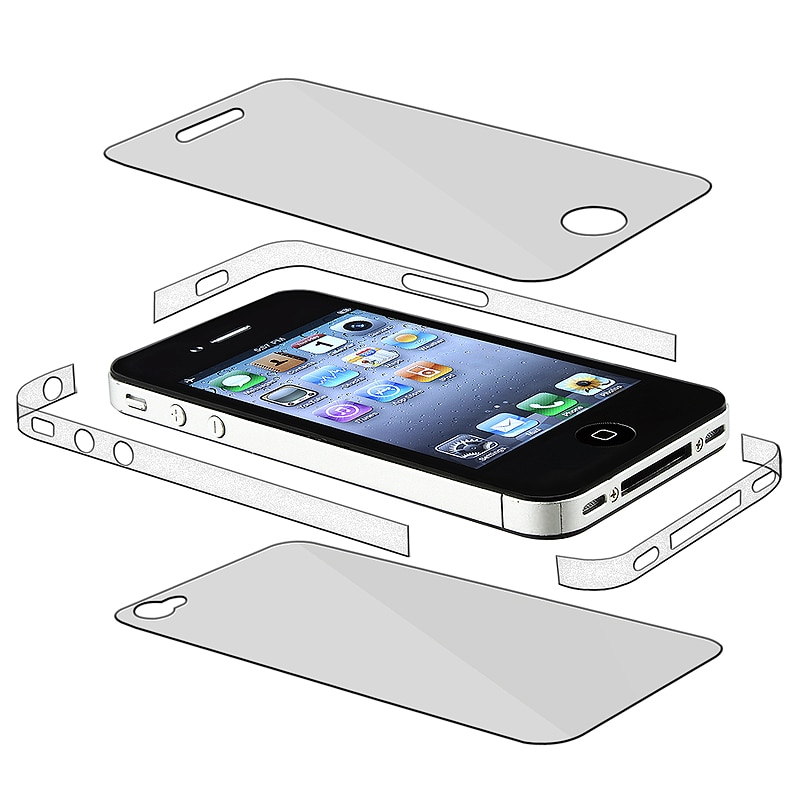 INSTEN Full Body and Edge Protectors for Apple iPhone 4 AT&T