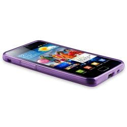 Purple Circle TPU Rubber Skin Case for Samsung Galaxy S II i9100