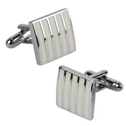 White Rectangle Cufflinks