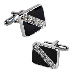 Black Square with 6 Jewels Cufflinks