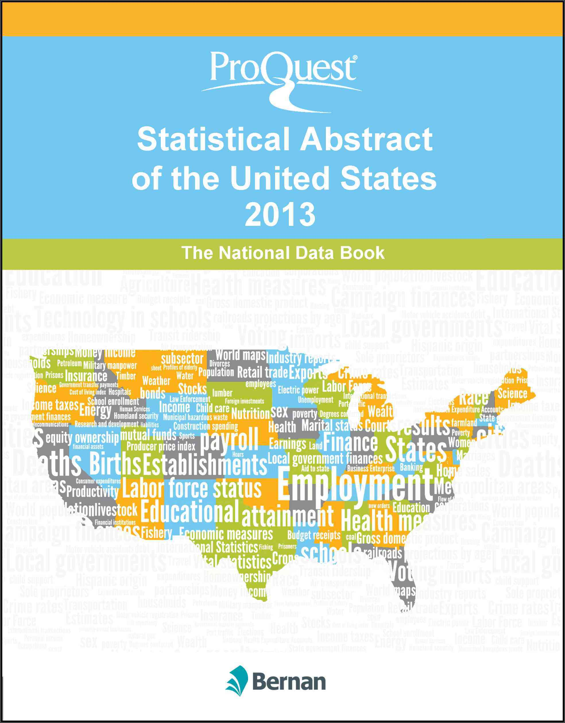 Proquest Statistical Abstract of the United States 2013 (Hardcover)