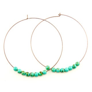 Pretty Little Style Turquoise Hoop Earrings