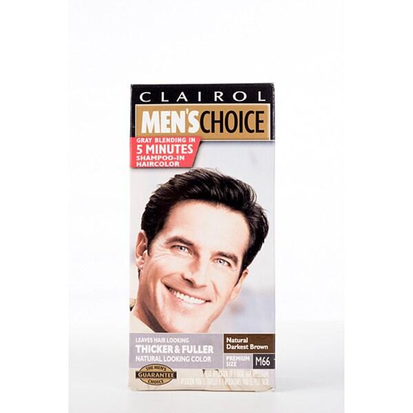 Clairol Men's Choice #M66 Natural Darkest Brown Hair Color (Pack of 4)